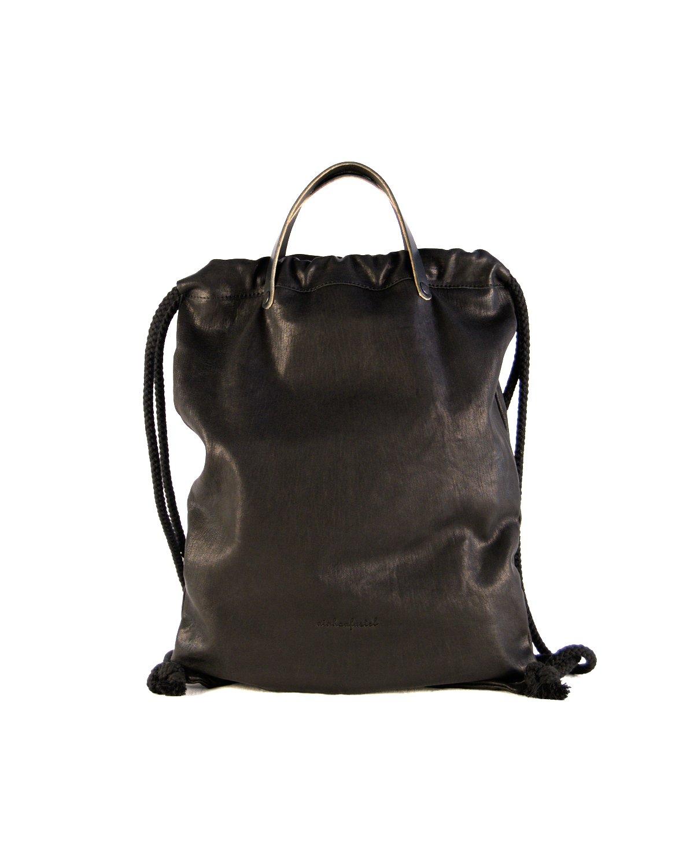 Mochila estilo bolsa de la merienda color negro